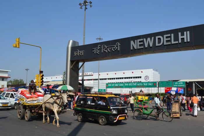 Delhi estación de tren India