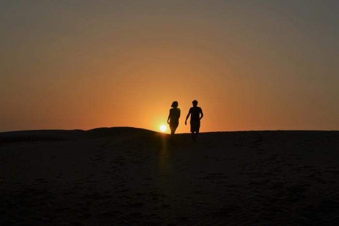 atardecer en el desierto del Thar