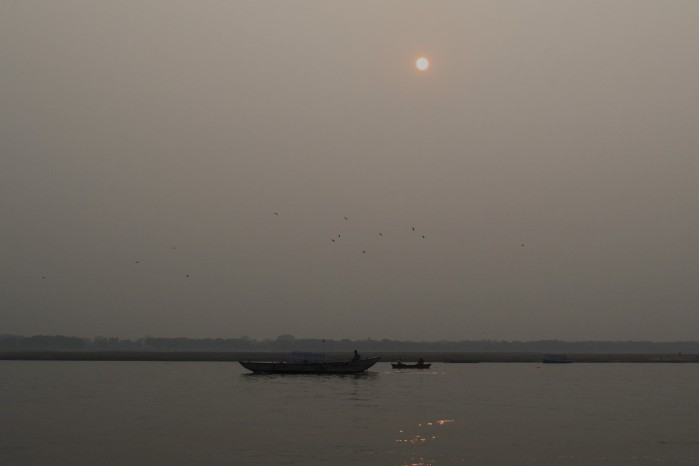 sunset río ganges