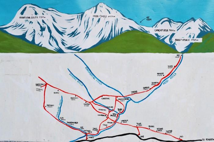 Trekking al campo base del Annapurna
