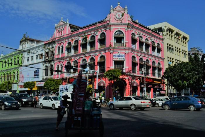 el centro colonial de rangún