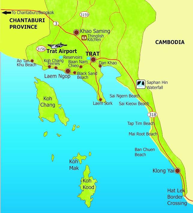Mapa Koh Kood Tailandia