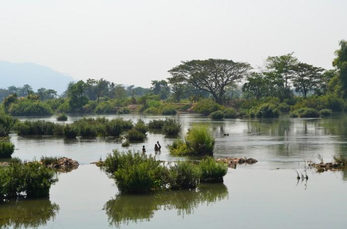 baño en el mekong