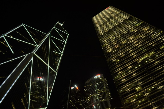 skyline hong kong nocturno