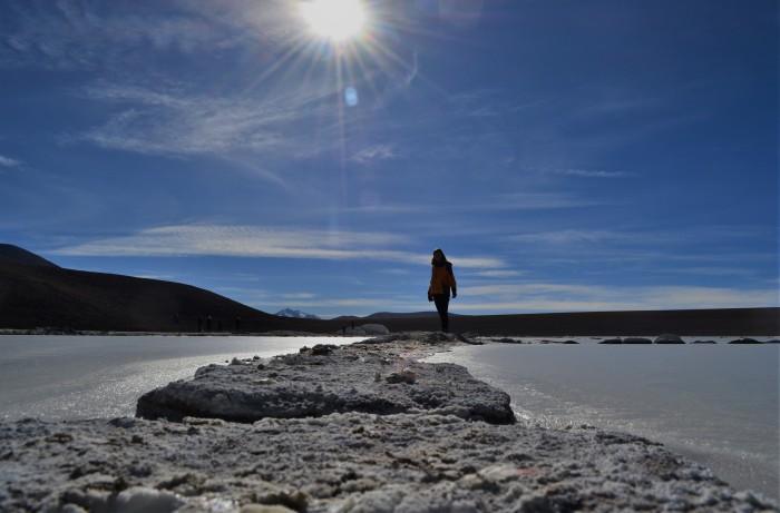 Laguna de sal en Uyuni