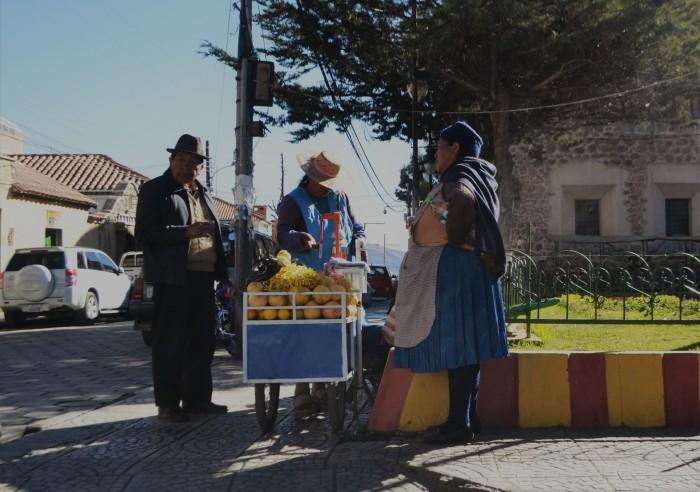 comida callejera Bolivia