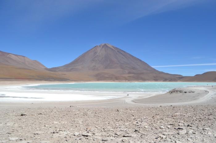 Laguna verde camino al salar de Uyuni