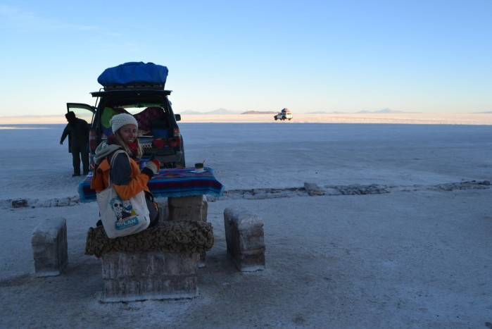 Desayuno en el desierto