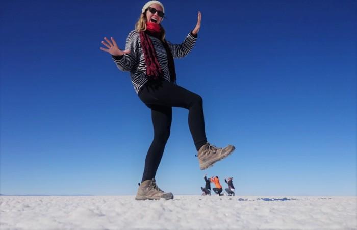 Gigante en el desierto de sal
