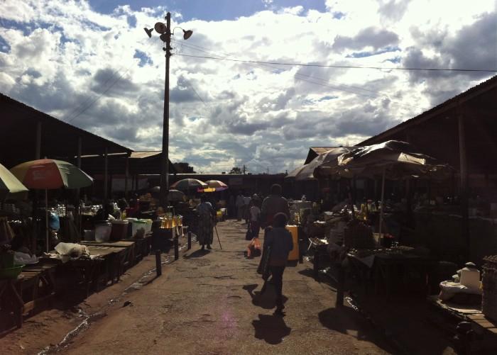 Mercado artesanía Zambia