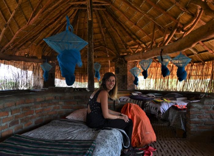Dormitorio contra la malaria
