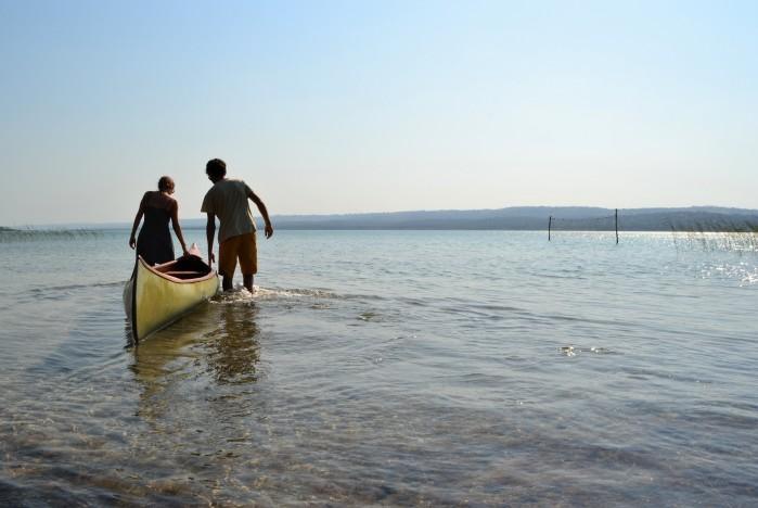 En canoa por el lago Quissico