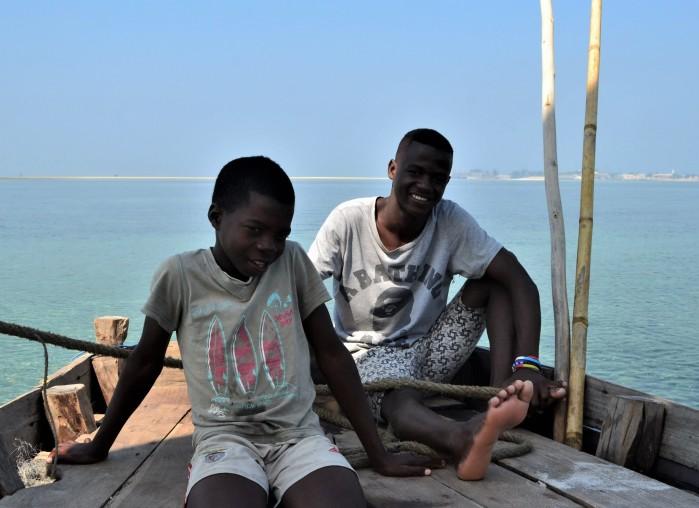 Tripulantes de dhow africano