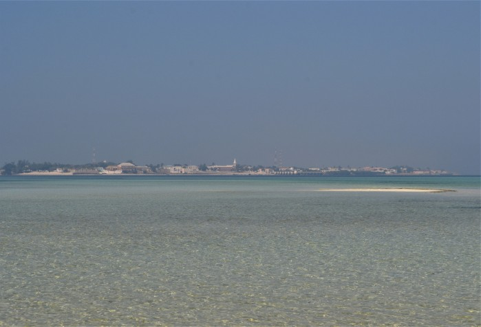 Vista panorámica de Isla de Mozambique, África