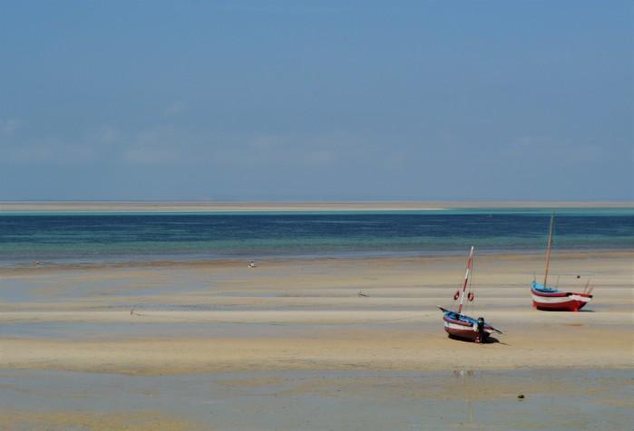 Barcas en el archipiélago Bazaruto