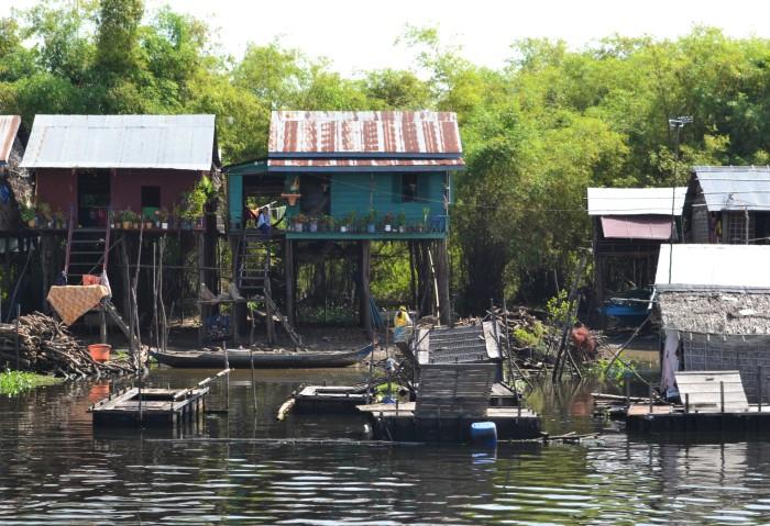 Casas flotantes Camboya